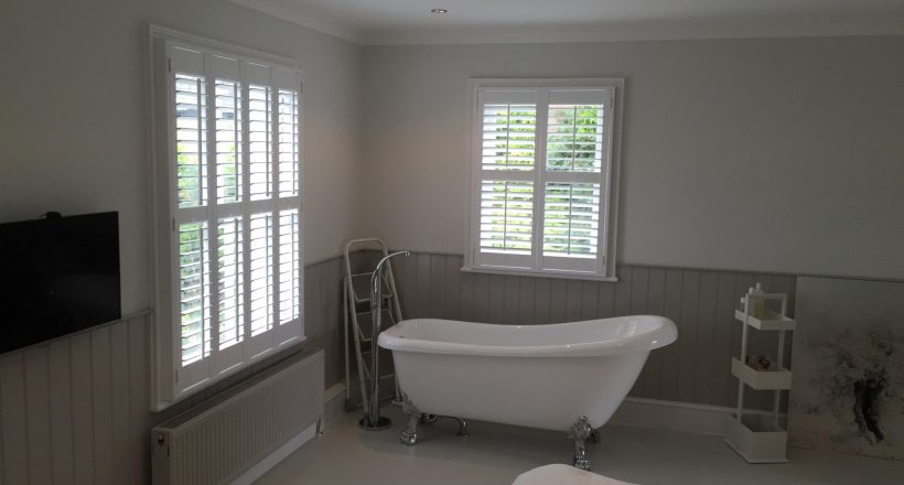 beautiful bathrooom window shutters