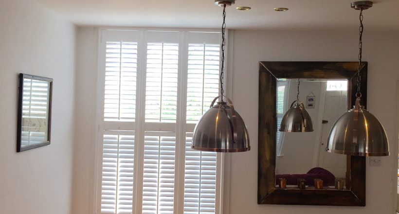 Full height Window Shutters in contemporary kitchen