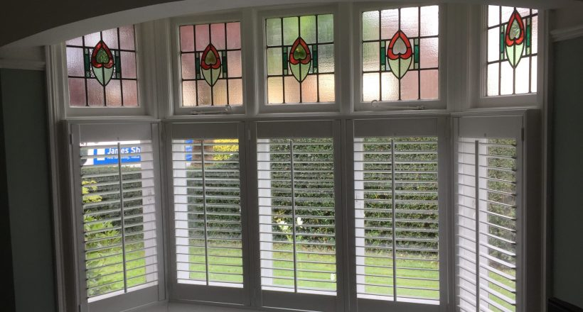 Cafe style shutters fitted recently